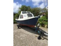 Orkney Strikeliner 16+ fishing boat with trailer - Mercury 25 hp engine