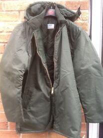 Green work or walking coat