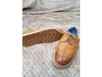 Boys brogue style shoes
