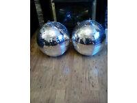 Huge disco mirror balls x2