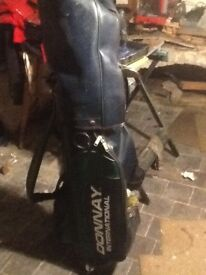 Full set of carbon shaft HOWSON golf irons + 3 wood &sputter, donnay bag, various balls n tees