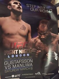 UFC Gustaffson Vs Manuwa Signed Poster With Proof
