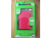 Electric Jelly iPhone 5,6,7, & Android Slim Portable Charger Power Bank