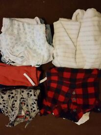 Bags of baby clothes 0-9 months