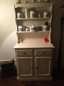 Solid pine dresser painted cream
