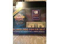 Games Poker set ....mini football table dog and elephant jigsaws