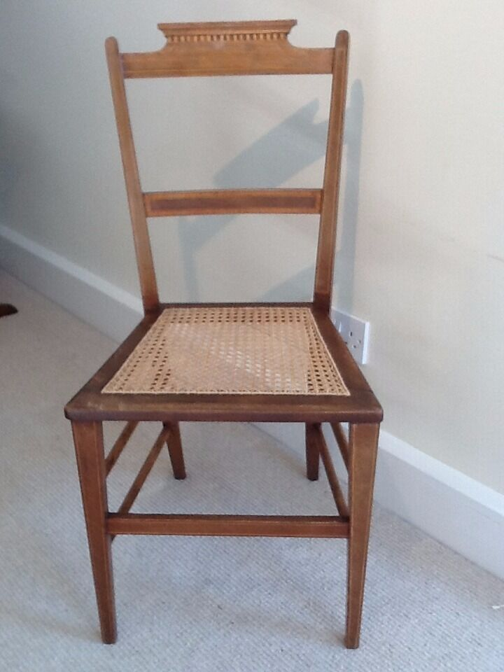 Small Edwardian bedroom/occasional chair with cane seat