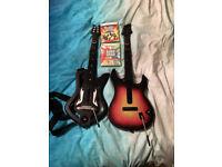 guitar hero guitar controllers and games(xbox 360)