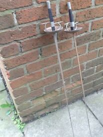 2 old fencing equipment