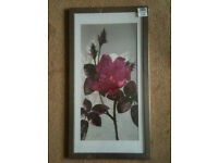 """New """"Spring Bloom"""" Picture in Pewter Frame, 30x60mm"""