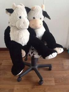 TWO SOFT TOY COWS - GOOD CONDITION (ALSO COW PRINT CHAIR) Burleigh Waters Gold Coast South Preview