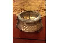Vintage Soviet Silver plated Salt/ Mustard Pot