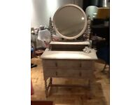 Gorgeous up cycled dressing table in pebble effect design.