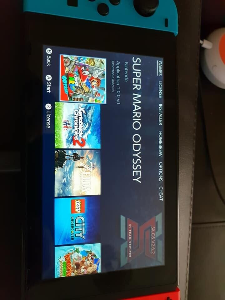 Nintendo switch - sxos custom firmware 10 pre installed games - 128gb sd  card, and Carry case   in Runcorn, Cheshire   Gumtree