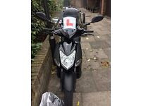 MOTORBIKE WITH FULL WATERPROOF BODY ARMOUR SUIT