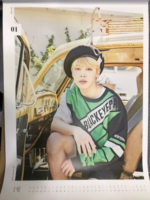 BTS 2018 WALL CALENDAR LIMITED EDITION (Jan) JIMIN Ver FOLDED PAPER ONLY SEALED