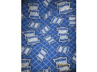 BIRMINGHAM CITY CURTAINS SIZE 50 INCH WIDE X 52 INCH DROP GREAT FOR BEDROOM