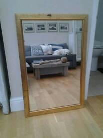 Gold mirror. Antique effect