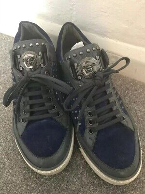 Versace Mens Suede Trainers