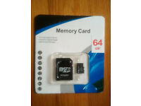 64GB Fast Generic SDHC micro SD Card with adapter. Aditional HDD. Weekends only. Bargain