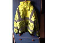 Fluorescent work jacket small