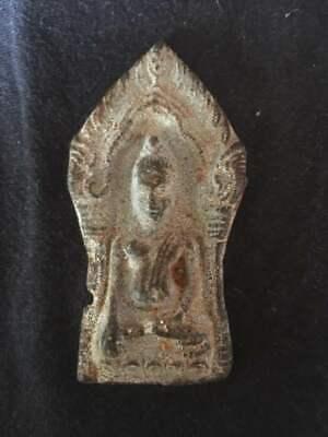 Plate Votive Buddha Figure Amulet Figure Miniature Sacred Thailand P61