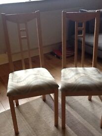 Set of four ikea dining room chairs