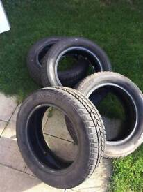 Avon 15 inch winter tyres NEW x 4