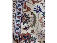 Beautiful Indian carpet, custom made 13ft 2in square