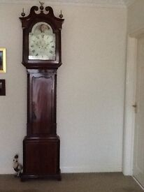Handsome long case grandfather clock