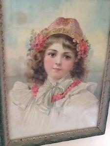 Gorgeous Victorian Print - Young Child Portrait