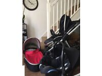 Oyster Max 3in1 Travel System Pram Stroller Push Chair Maxi Cosi Car Seat 3 in 1