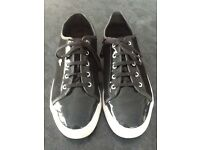 Mens Black & White 'Creative Recreation' Converse style trainers...