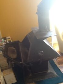 Cast iron woodburning stove - bespoke v good condition