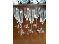Crystal Champagne Flutes and Liqueur Glasses