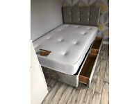 Free Delivery ! Small Double Size Bed With Mattress ! Drawers Available