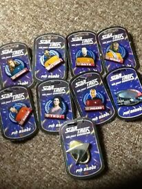 Star Trek pin badges