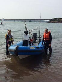 Diving rib 5.5 metre/ trailer/60 hp mercury engine