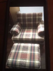 Chair  with. Ottoman