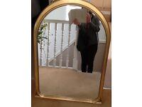 Large Matt Gold Mirror
