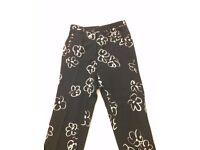 Elegant Black Trousers, Size 12