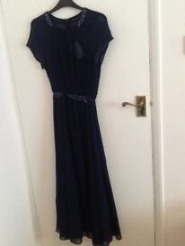 Women's David Emanual maxi dress navy blue new with tag (£55) length slightly short for me only £30