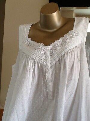 Women's Plus Croft & Barrow Crochet Long Swiss Dot 100% Cotton Nightgown 2X NWT