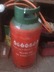 Full 19kg Propane gas bottle with hose and Regulator