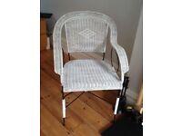 2 X White Wicker Chair