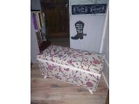 vintage ottoman reupholstered