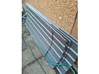 Metal 2 door shed brand new unboxed buyer uplifts 3m x3m