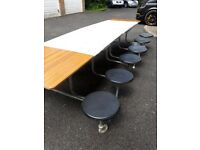 Folding indoor/outdoor 12/14 seater party tables
