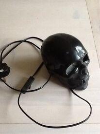 Black Halloween Skull Flashing Light