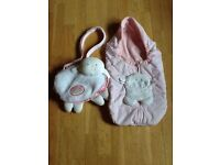 Baby Annabell - Sleeping Bag, Change Bag & Accessories